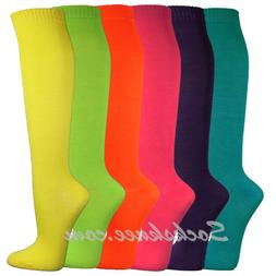 Women/Ladies Cute Colorful Solid Dress Knee High Socks