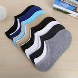 Women/Men Casual Cotton Boat Socks Non-Slip Invisible Low Cu