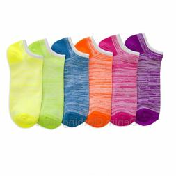 Women No Show HEATHER Spandex Socks Ankle Quarter Casual Who
