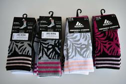 Adidas Women's 3-Pack Palm Print Cushioned Crew Socks, Shoe