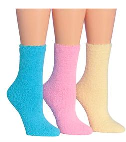 Tipi Toe Women's 3-Pairs Cozy Microfiber Anti-Skid Soft Fuzz