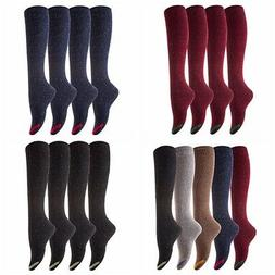 Lovely Annie Women's 4 Pairs Pack Knee High Casual Cotton Bo