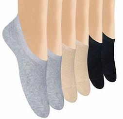 Women's 4 to 6 Pack Casual No Show Socks Non Slip Flat Boat