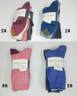 GOLD TOE Women's 6 pack Crew Multi Color Socks, Casual, 9-11