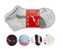 Puma Women's 6 Pack Low Cut Classic Sport Athletic Gym Moist