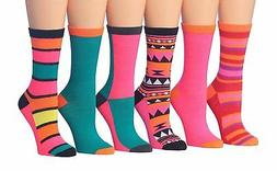 women s 6 pairs colorful funky patterned