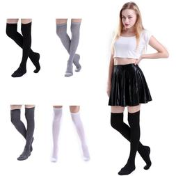 Women's Cotton Long Socks Over the Knee Thigh High Stockings