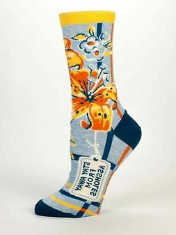 Blue Q Women's Crew Sock Stay Away From @$$holes