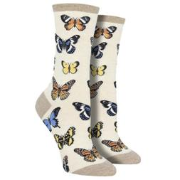 women s crew socks monarch majestic butterflies