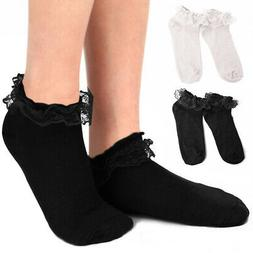 Women's Cute Princess Lace Ruffle Frilly Ankle Socks Casual