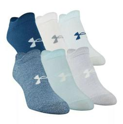 Under Armour Women's Essential No Show Socks, 6-pair  Size 6