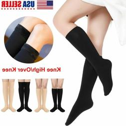 Women's Frenchic Opaque Plush Fleece-Lined Knee-High Socks L