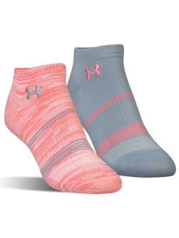 Under Armour Women's Grip No Show Socks 2 Pack Medium Pink G