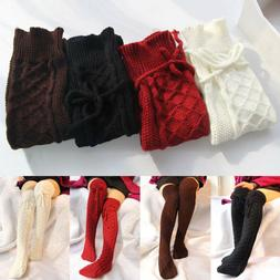 Women's Long Boot Stocking Knit Over The Knee Thigh-High War