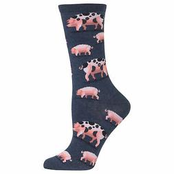 Hot Sox Women's Spotted Pig Crew Socks