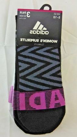 adidas Women's Superlite Super No Show Socks  NWT