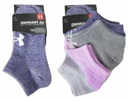 UNDER ARMOUR Women's UA Training No Show Socks Purple Space-