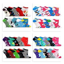 TeeHee Socks Women's Valued 10 Pack Fashion No Show Cotton S