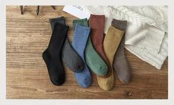 Women's Winter Socks 5 Pairs Thick Cotton Soft Warm Casual S