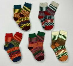 Loritta Women's Wool Crew Socks 5 Pairs NEW Without Tags BJ