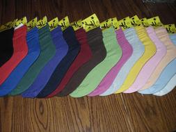 WOMEN SLOUCH SOCKS ATHLETIC U-CHOOSE FROM 18 COLORS NWT  FRE