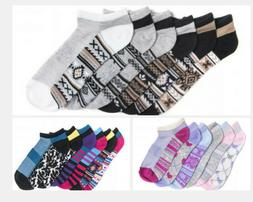 Muk Luks Women socks 6 Pair Pack No Show Compression Arch Mu