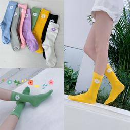 Women Summer Autumn Cute Socks Solid Color Cotton Casual Flo