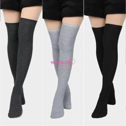 Women Winter Thigh High Over The Knee Knitted Thick Long Soc