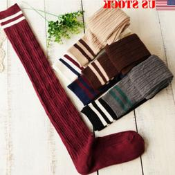 Women Winter Warm Cable Knit Extra Long Boot Socks Over Knee