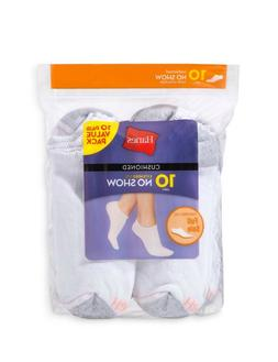 Women's Hanes 10-Pair Socks Size 5-9 No Show, Low Cut, or