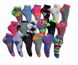 Frenchic Womens 18 Pairs Patterned No Show Ankle Socks  Shoe