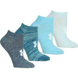 Under Armour Womens 4 Pack Space Dye Training No Show Socks