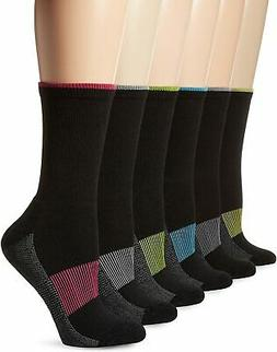 womens 6 pack sport active crew socks