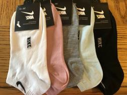 NIKE Womens Ankle Socks 5 Pairs  Free shipping!