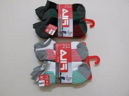 Fila Womens Non Cushioned No-Show Lightweight Socks Med 6-Pa