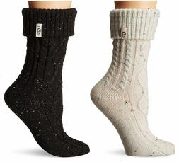 Womens UGG Sienna Short Rainboot Socks - Cream & Black