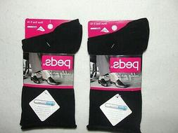 Peds Women's Socks Arch Support Crew – 2-Pack- Size 5-10