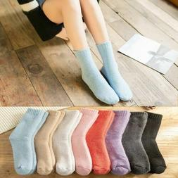 Womens Super Thick Wool Socks - Soft Warm Comfort Casual Cre