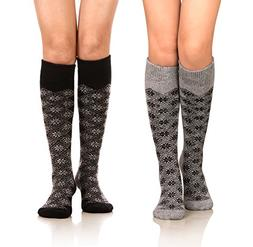 DoSmart Womens Winter Warm Knee High Socks Boot Socks 2-Pair